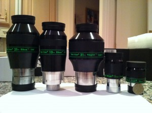 Comparison of Televue Eyepieces