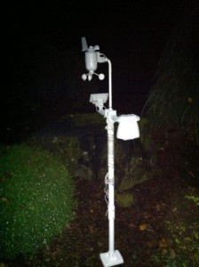 Installed Weather Station Pole