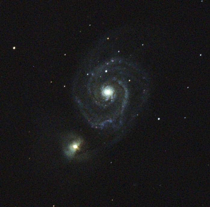 M51, The Whirlpool Galaxy, AT10RCF