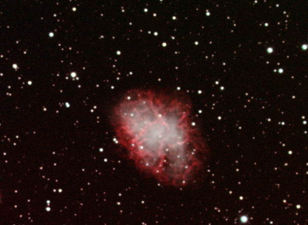 Crab Nebula in LRGB+Ha