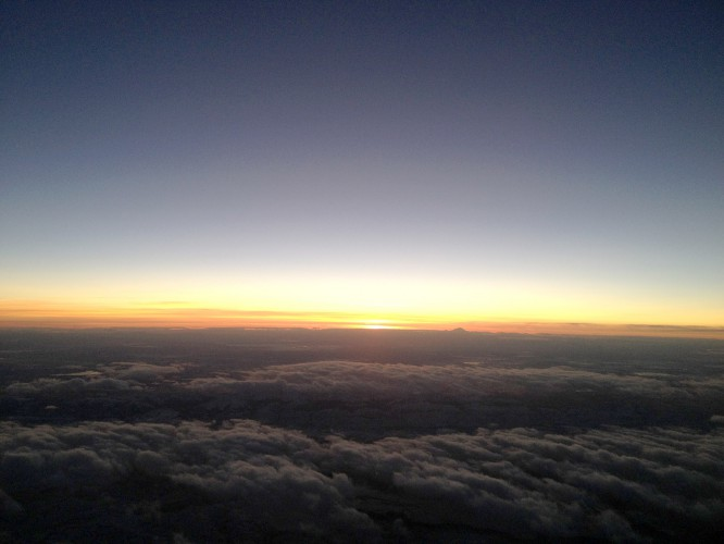 Wonderful sunset from 36k feet...